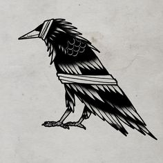 Bandaged Crow © 2012 Tom Gilmourhttp://www.tomgilmour.comhttps://www.facebook.com/tomgilmourillustration