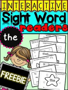 This mini reader is interactive and provides students with an opportunity to practice spelling, finding and writing sight words over and over again, in a hands on way. This FREEBIE highlights the word the to study.