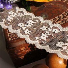 "Soft Galloon Floral Lace Trim 2¼"" wide - Cream | Lace Trim"
