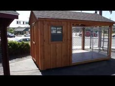 8' x 12' Dog Kennel walk-through: features of Backyard Unlimited's Amish-built dog kennels http://www.backyardunlimited.com/dog-kennels