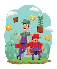 dotcore:  Mushroom Kingdom.by Felolira. #Nintendo #Mario #Luigi #gaming