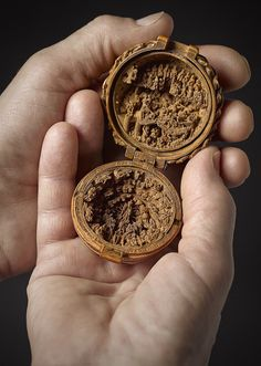 The miniature carving in boxwood proves that art existed years ago; it is a 500 years old boxwood carving shows the religious side of the ancient world.
