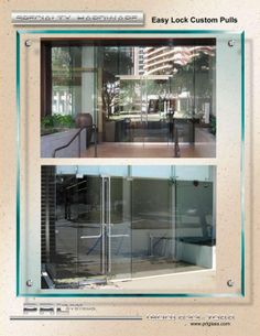 The lock is a strong contemporary design for swinging glass doors aluminum and full frame clad doors and sliding ... & PRL offers many options for access/egress hardware for our Frameless ...