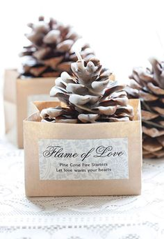21 awesome wedding favors that are not jam rustic wedding favorswedding favourswinter