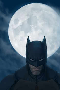 Batman Moon by strib.deviantart.com on @deviantART