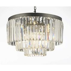 Gallery Odeon Crystal Glass Fringe 3-tier Chandelier - 14971596 - Overstock.com Shopping - Great Deals on Gallery Chandeliers & Pendants
