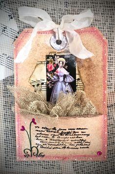 Tag Art ~ Elegant Lady Maeve by Christine LeFever