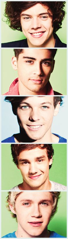 Why does Louis get a blue background and everyone else get green ones? Oh well. Still freaking gorgeous!