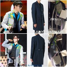 T.O.P wore Junya Watanabe navy exposed seam detailed coat during Chongqing Fanmeeting. Sleeve, neckline, and lining details show that T.O.P reversed this coat 😂😂😂. How incredible creative! #choiseunghyun #top #TOPstyle #chongqing #fanmeeting #junyawatanabe #bigbang #bigbang10 #최승현 #빅뱅