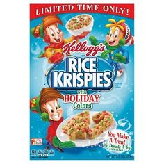 Rice Krispies with Holiday Colors Cereal - 9.9 oz - General Mills