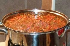 Chili, Food And Drink, Soup, Desserts, Backyard, Recipes, Canning, Fine Dining, Salads