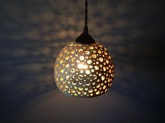 Just Custom Lighting - Listings View Handcrafted Stoneware Pottery Hanging Pendant Light With Hand Carved 10 Off With Coupon Code Spring2014