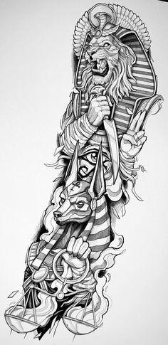 Tattoo Design Drawings, Tattoo Designs, Blackwork, Ma Tattoo, Egypt Tattoo, Human Reference, Anubis, Dragon Ball Z, Tattoo Inspiration