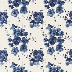 Mandarin Flowers in Indigo, Sanderson - Design details