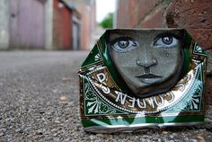 Prolific street artist, My Dog Sighs, has been producing these enchanting little critters for a while. Instigator of the legendary Free Art Friday, this man is an altruistic art machine dedicated to the cause of Free Art for Everyone.