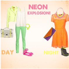 Check out this #neon explosion! That's one way to wear a colorful outfit.