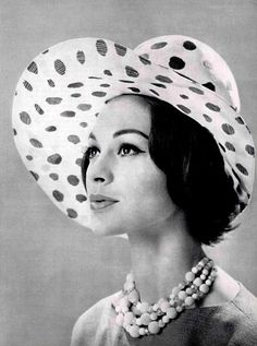 #Vintage #Milliner #Hat by Rose Valois, 1960 photo by Phillipe Pottier