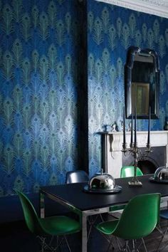 Osborne Little   Matthew Williamson   Eden Wallpaper   Peacock   10m Roll