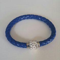Royal Blue Bracelet Royal Blue Bracelet with rhinestones and a magnetic closure Jewelry Bracelets