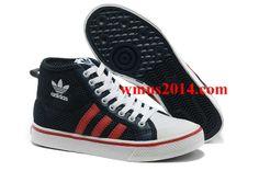 premium selection 91e51 88ad8 Adidas Originals Adidas Nizza Hi K White Black Red Q22859
