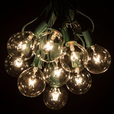 ... 1X G50 String Light, 25 G50 Clear Globe Bulbs For Indoor/Outdoor  Vintage Backyard Patio Lights,7.5M Connectable String Lights 37.69$