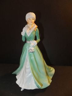 Royal Doulton Pretty Ladies Silver Bells Figurine New 2012 Signed Michael Doulto | eBay