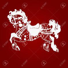 20017817-New-year-horse-2014-Stock-Vector.jpg (1300×1300)