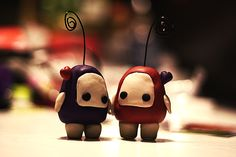 Ilomilo Polymer Clay Figures / Photo Holders by ~Sushumo on deviantART