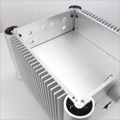 Boitier DIY 100% Aluminium colonnes cylindriques avec dissipateurs 242x206x150mm
