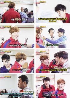 Kwang Soo told his dad about the hyung who bullies him... hahaha