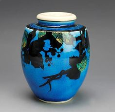 Japanese #pottery - Persian blue chaire by Kato Kobei VII