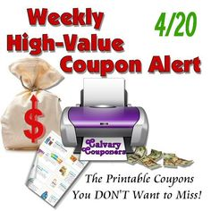 High value coupons for 4-20_Calvary Couponers and Crafters