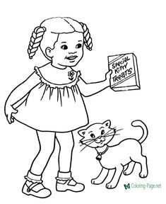 Free Cat Page to Print and Color