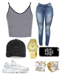 """"""""""" by goddesstillerr on Polyvore featuring Topshop, Boohoo, Michael Kors, Casetify and NIKE"""
