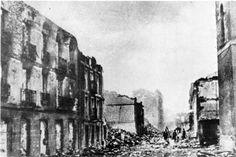 La Guernica era un lugar donde bombas explota. La bombas eron durante la guerra civil de Espana.