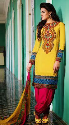 Latest Designs Of Punjabi Shalwar Kameez At New Year 2014