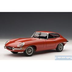 JAGUAR E-TYPE COUPE SERIES I 3.8 (RED) (WITH METAL WIRE-SPOKE WHEELS)