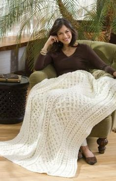 Lattice Weave Throw Crochet Pattern