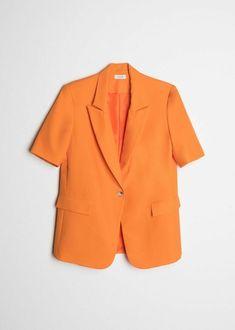SHORT SLEEVE BLAZER Blazer, Unique Fashion, Feminine, Spring Summer, How To Wear, Jackets, Clothes, Sleeve, Women's
