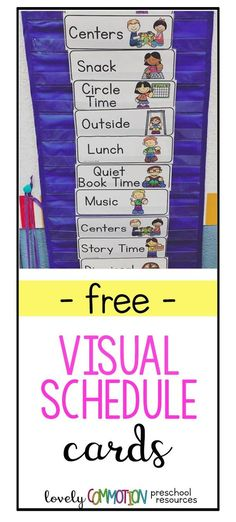 Creating a Visual Schedule for your preschool, pre-k and kindergarten students is extremely important! When students know what to expect it helps them feel safe. When children feel safe, amazing learning can happen! Get these visual schedule cards FREE Preschool Classroom Schedule, Kindergarten Schedule, Classroom Routines, Kindergarten Lesson Plans, Free Preschool, Daily Routines, Kindergarten Classroom Jobs, Preschool Classroom Management, Classroom Ideas