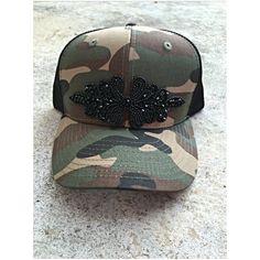 Camo trucker hat with beaded embellishment Custom Made Hats, Embellishments, Camo, Sunglasses Case, Baseball Hats, Etsy, Camouflage, Ornaments, Baseball Caps