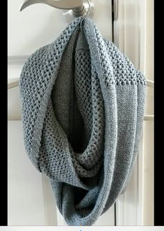 Beautiful scarf. Gray is such a perfect neutral