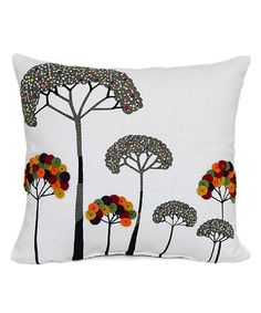 Look what I found on #zulily! Embroidered Tree Throw Pillow #zulilyfinds