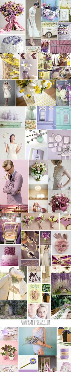 lavender wedding inspiration and ideas http://burnettsboards.com/category/purples/  Bow at the top!