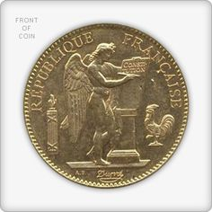 French 20 Franc Angels Gold Coin