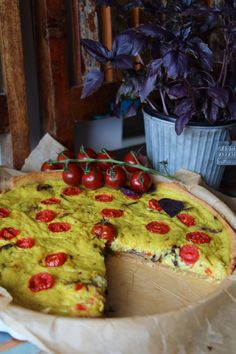 Vegane Pilz-Quiche mit Seidentofu #vegan #quiche #pilzquiche #laurasapfelbaum