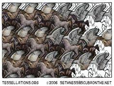 Horses + Hawks Tessellation by sethness.deviantart.com on @deviantART