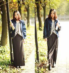 Denim jacket (by Rinka Li) http://lookbook.nu/look/4272285-Denim-jacket