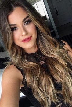 Balayage hair is suitable for light and dark hair, almost all lengths except very short haircuts. Today I want to show you the most gorgeous balayage hair dark color ideas. Balayage has become the biggest trend in recent seasons, and it's not over Dark Blonde Hair, Bayalage Black Hair, Subtle Balayage Brunette, Fall Balayage, Subtle Ombre, Gold Blonde, Blonde Ombre, Blonde Balayage, Cool Hair Color