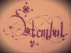 Kaligrafi Defter çalışmam.  Yunus Kuş İstanbul  ↪yunus↩